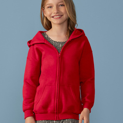 Gildan Childrens Full-Zip Hooded Sweatshirt
