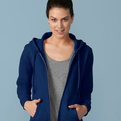 Gildan Ladies Heavy Full Zip Hood Sweat