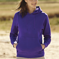 Fruit Of The Loom Lady Fit Hooded Sweat