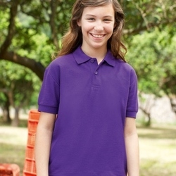 Fruit Of The Loom Childrens 65/35 Pique Polo
