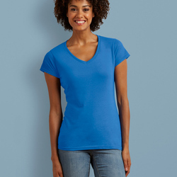 Gildan Ladies Soft Style V-Neck T-Shirt