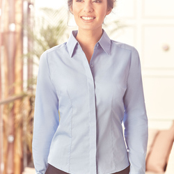 Russell Collection Ladies L/SL Poplin