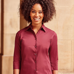 Russell Collection Lady 3/4 Sleeve Shirt