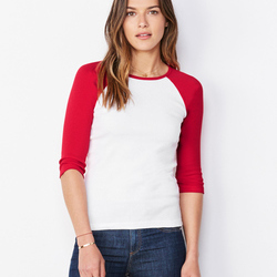 Bella Ladies 3/4 Sleeve Contrast Tee