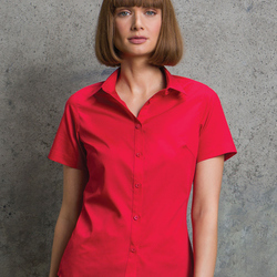 Kustom Kit Womens S/S Poplin Shirt