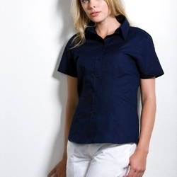 Kustom Kit Ladies Workwear Pinpoint Oxford Short Sleeve Shirt
