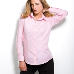 Kustom Kit Ladies Workwear Pinpoint Oxford Long Sleeve Shirt