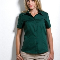 Kustom Kit Ladies Short Sleeve Premium Pocket Oxford Shirt