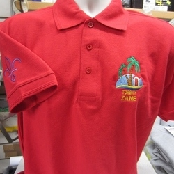 Uneek UC102 Premium Polo with front left breast and right sleeve embroidery for Marldon Explorers