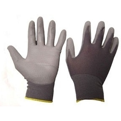 PU Coated Gloves - Grey. 10 Pair Pack