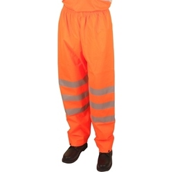 High Visibility Super Waterproof Breathable Trousers - Orange