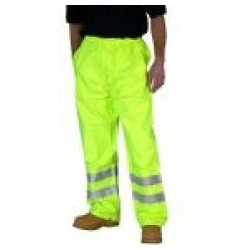 High Visibility Super Waterproof Breathable Trousers - Saturn Yellow