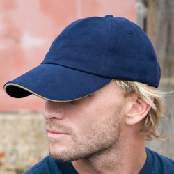 Result Pro-Style Heavy Brushed Cotton Cap With Sandwich Peak