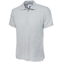 Uneek Classic Heather Grey Polo Shirt