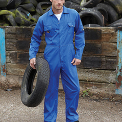 Dickies Redhawk Economy Stud Front Coverall Tall - Navy Blue