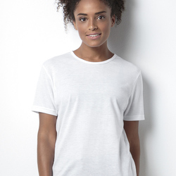Women's Short Sleeve Subli Plus Round Neck T-Shirt
