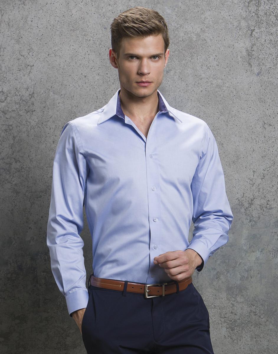 1bac372f686 Men s Long Sleeve Contrast Premium Oxford Shirt